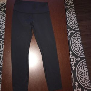 Black lulu lemon wonder under leggings size 8